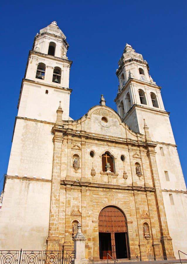 Katedra Niepokalany poczęcie w Campeche obrazy royalty free