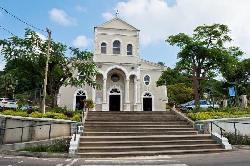 Katedra Niepokalany poczęcie w Wiktoria, Mahe wyspa, zdjęcia stock