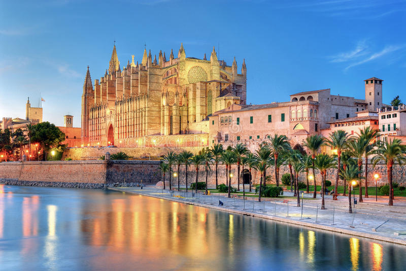 Katedra Palma De Majorca fotografia royalty free