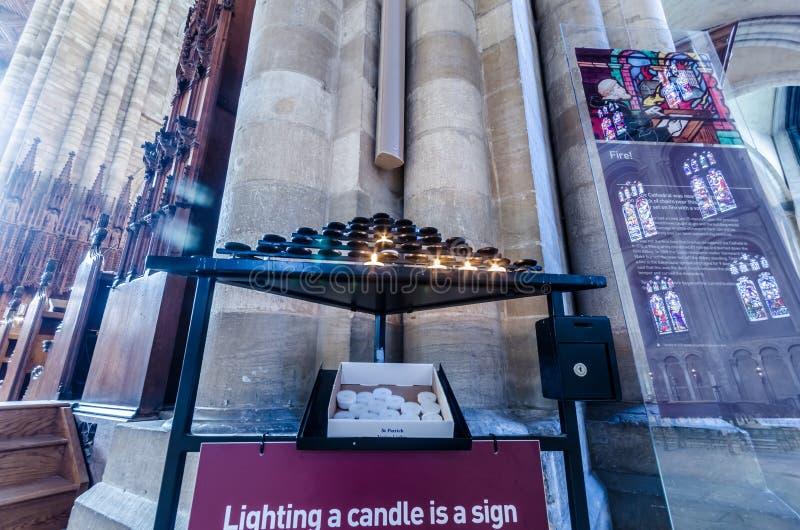 Katedra Peterborough jest monastyczną katedrą położoną w Peterborough, Anglia fotografia stock