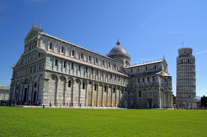 Katedra Pisa z Oparty wierza zdjęcie royalty free