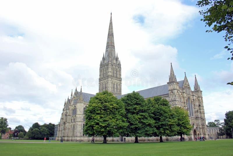 Katedra przy Salisbury, Anglia obraz royalty free