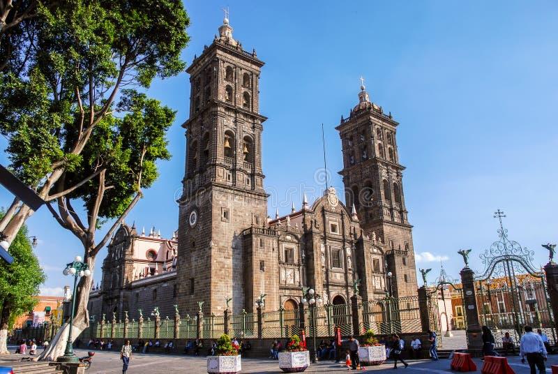 Katedra Puebla, Meksyk zdjęcia royalty free