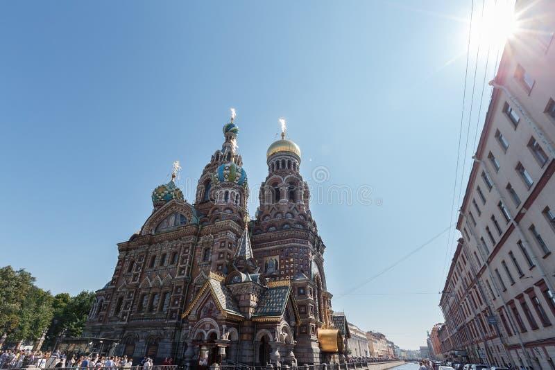 Katedra rezurekcja Chrystus w świętym Petersburg, Rosja krew zbawiciela kościoła obraz royalty free