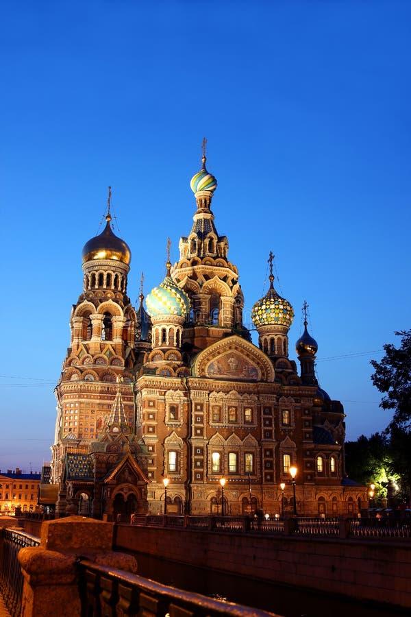 Katedra rezurekcja na Rozlewającej krwi (kościół Nasz Sa zdjęcia stock