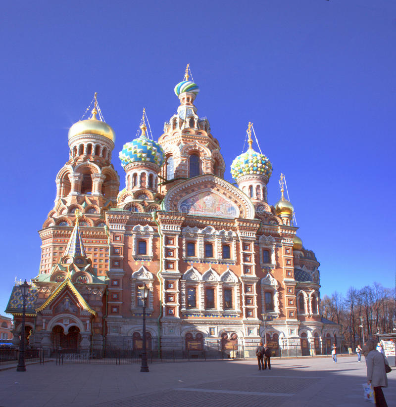 Katedra rezurekcja wybawiciel na Rozlewającej krwi obraz royalty free