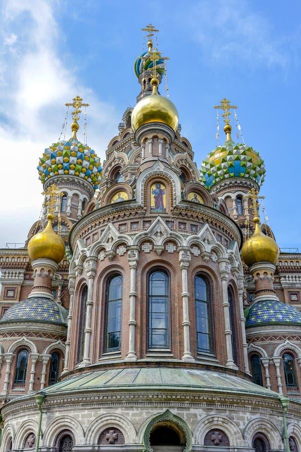 Katedra rezurekcja wybawiciel na Rozlewającej krwi w St Petersburg fotografia royalty free