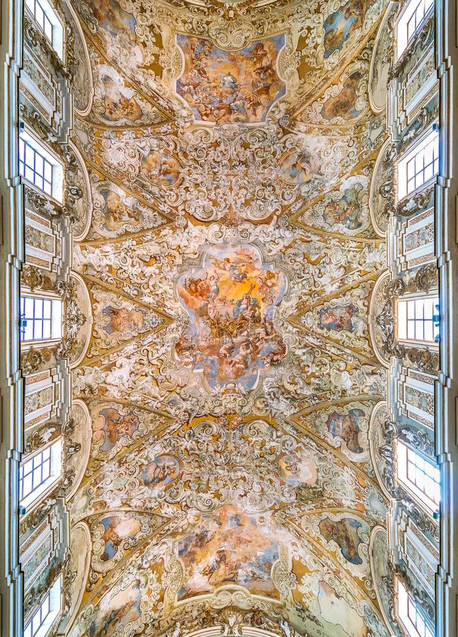 Katedra Santissimo Salvatore w Mazara Del Vallo, miasteczko w prowinci Trapani, Sicily, południowy Włochy zdjęcia royalty free