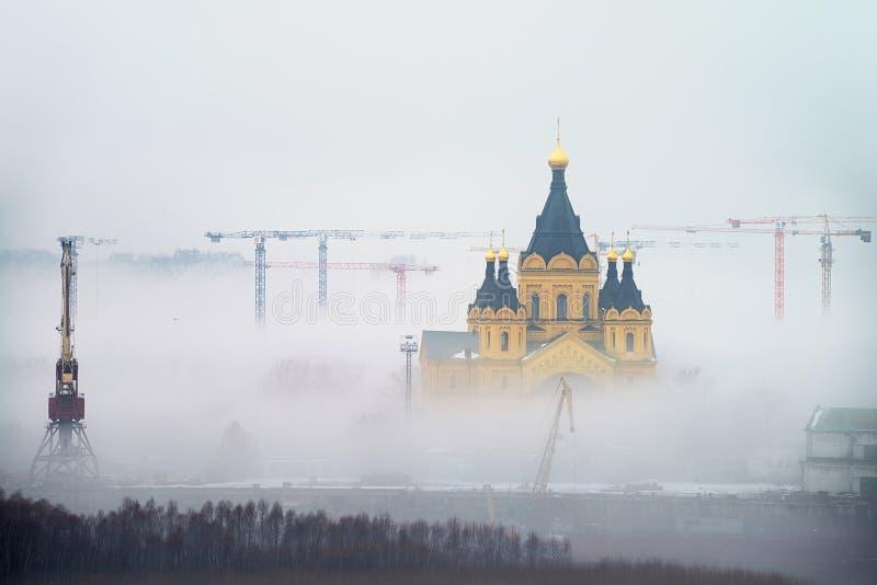 Katedra St Aleksander Nevskiy w Nizhny Novgorod, Rosja obraz stock