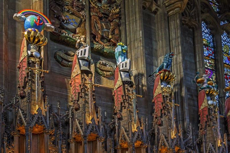 Katedra St Giles, Edynburg, UK zdjęcie stock