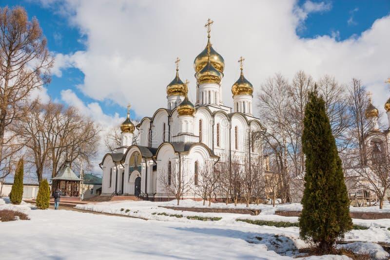 Katedra St Nicholas w Nikolsky monasterze, Pereslavl-Zalessky, Yaroslavl region, Rosja obrazy royalty free