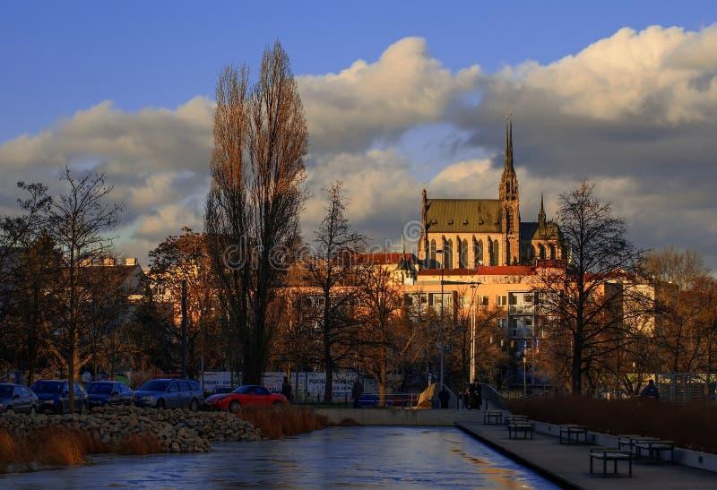 Katedra st Peter i Paul w Brno zdjęcia royalty free