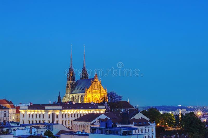Katedra st Peter i Paul w Brno zdjęcie stock