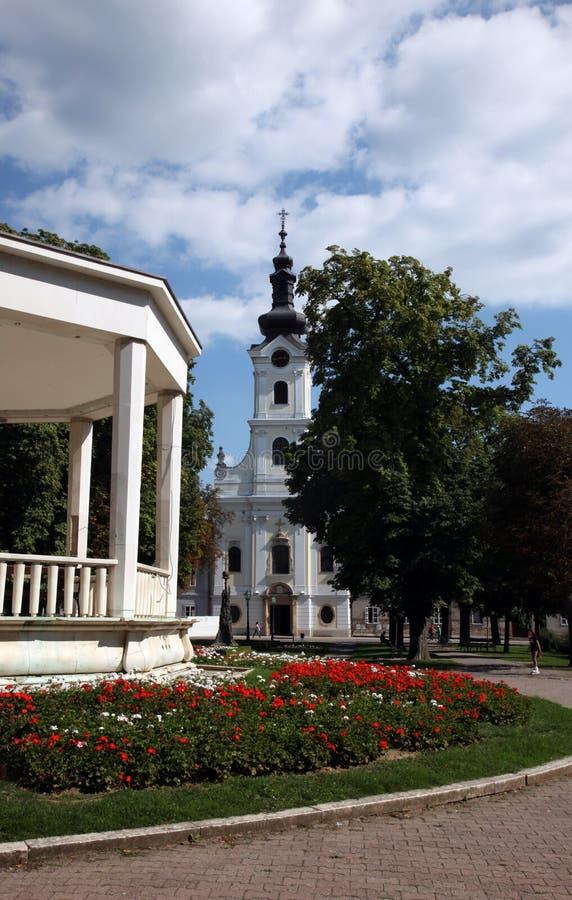 Katedra St Teresa Avila w Bjelovar, Chorwacja zdjęcie royalty free