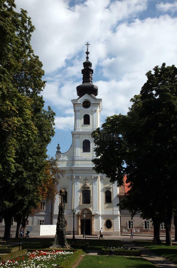 Katedra St Teresa Avila w Bjelovar, Chorwacja fotografia royalty free