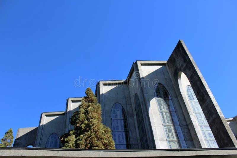 Katedra szczegóły - opactwo abbey misja BC fotografia stock