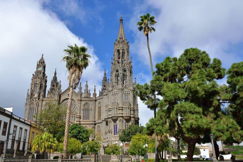 Katedra w Arucas obrazy stock