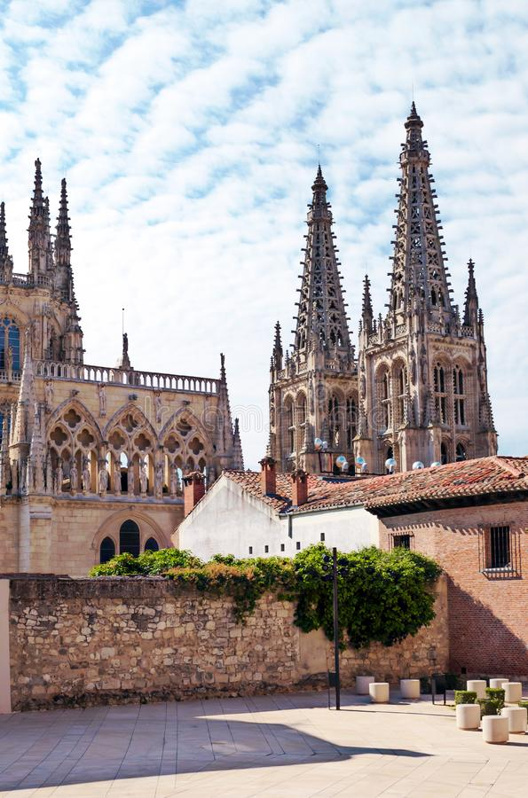 Katedra w Burgos obraz stock