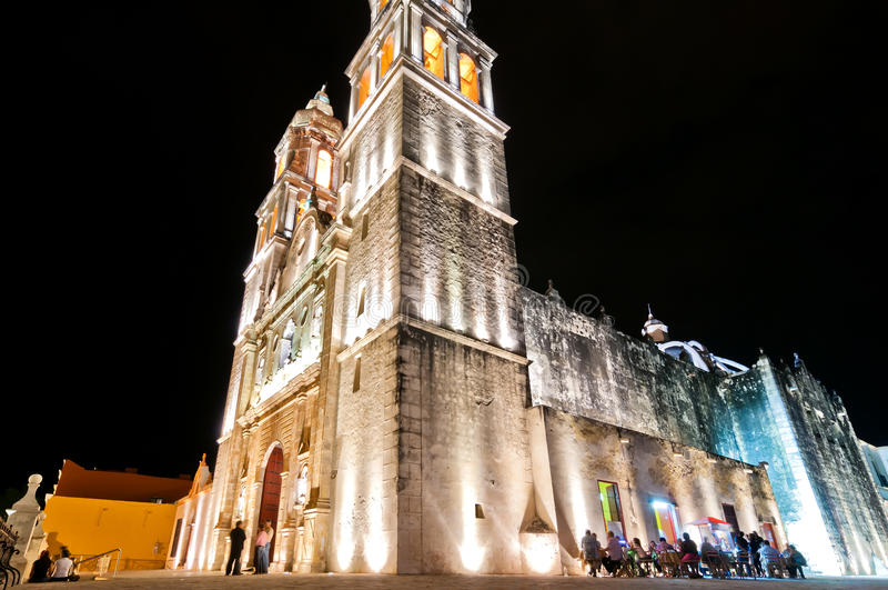 Katedra w Campeche, Meksyk zdjęcia stock