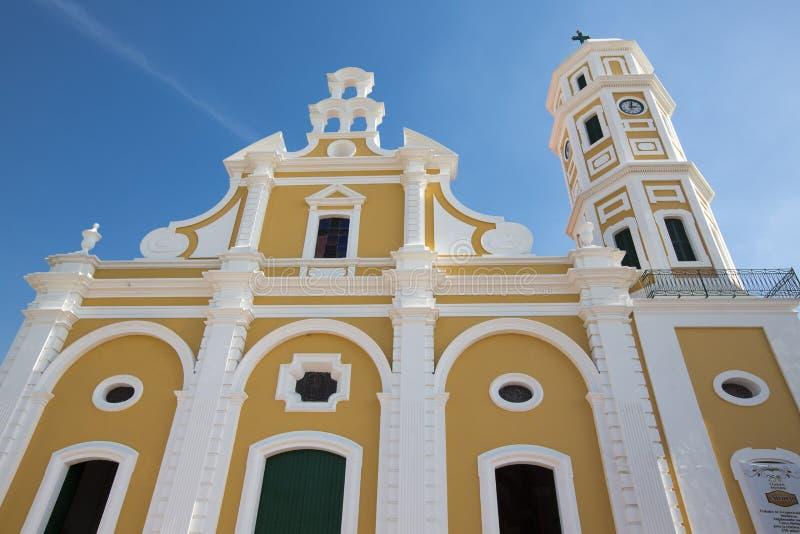 Katedra w centrum Ciudad bolivar, Wenezuela obraz stock
