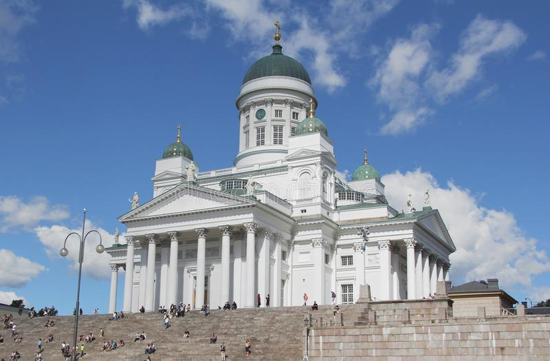 Katedra w centrum Helsinki Finlandia zdjęcie royalty free