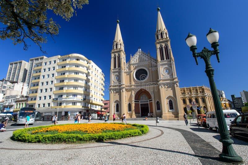 Katedra w Curitiba, Brazylia obraz stock
