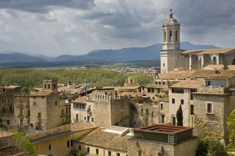 Katedra w Girona obraz royalty free