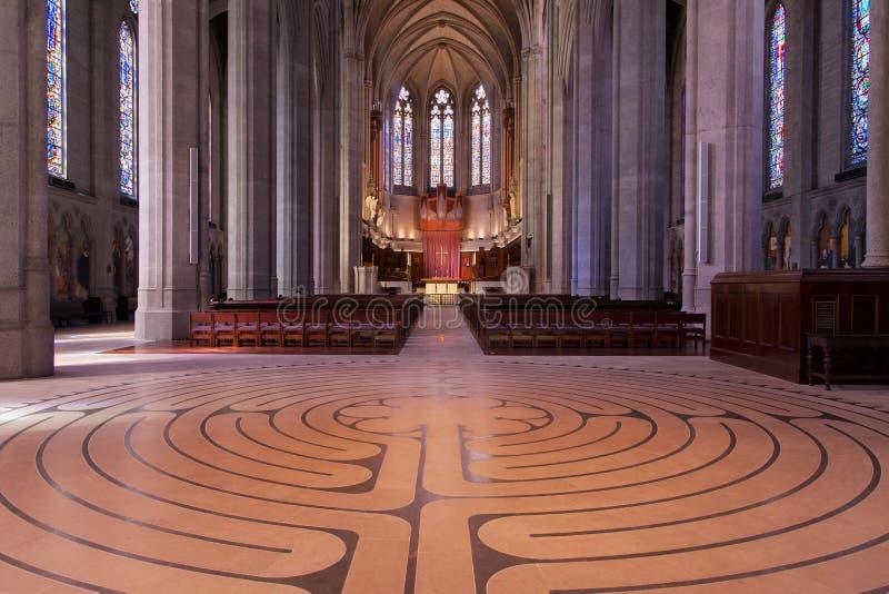 Katedra w Labyrinth i Nave w Grace fotografia royalty free