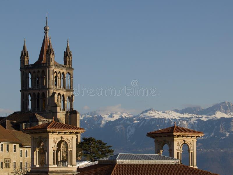 Katedra w Lausanne zdjęcia stock