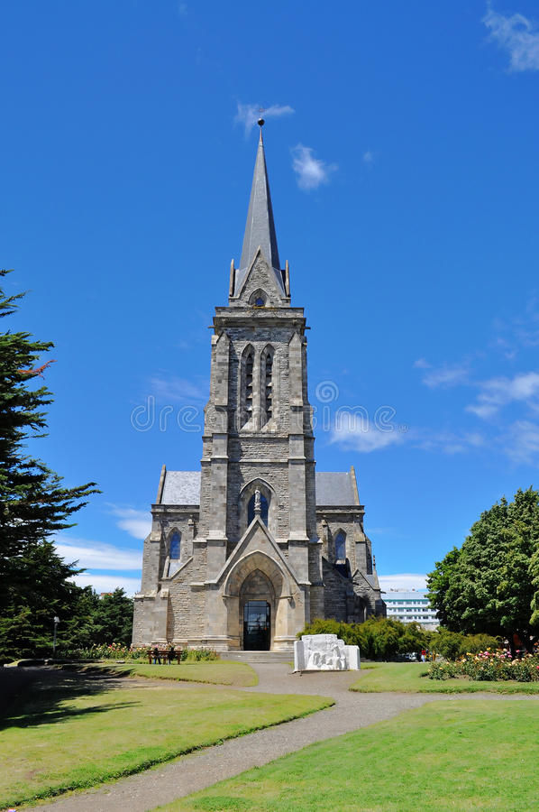 Katedra w San Carlos De Bariloche fotografia stock