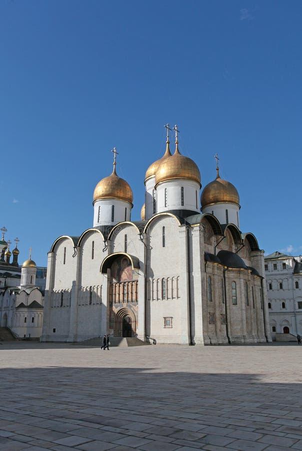 Katedra wniebowzięcie w Moskwa Kremlin obraz stock
