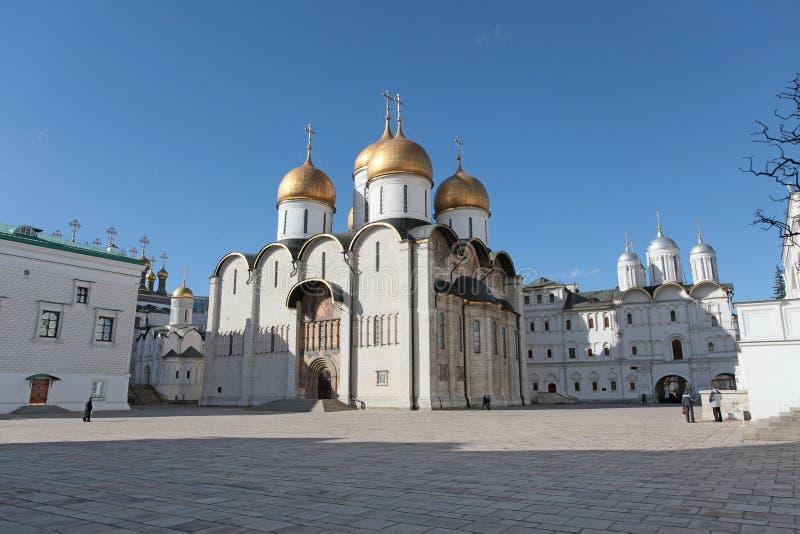 Katedra wniebowzięcie w Moskwa Kremlin zdjęcia stock