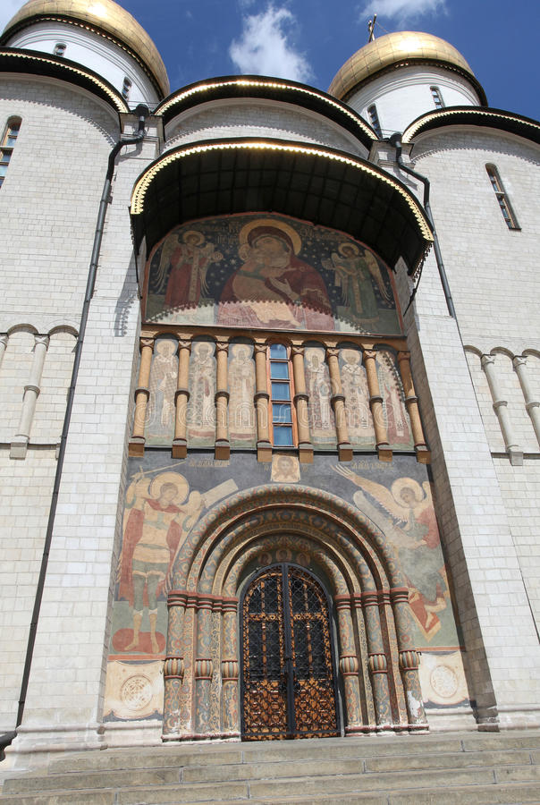 Katedra wniebowzięcie w Moskwa Kremlin obraz royalty free