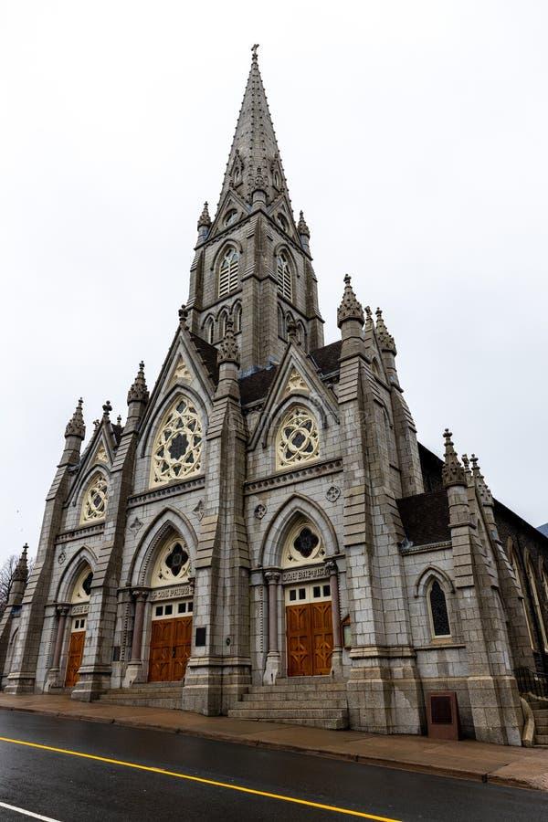 Katedral i Halifax i Kanada royaltyfri foto