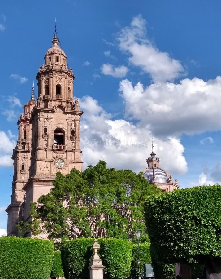 Katedral i Morelia Mexico arkivfoto