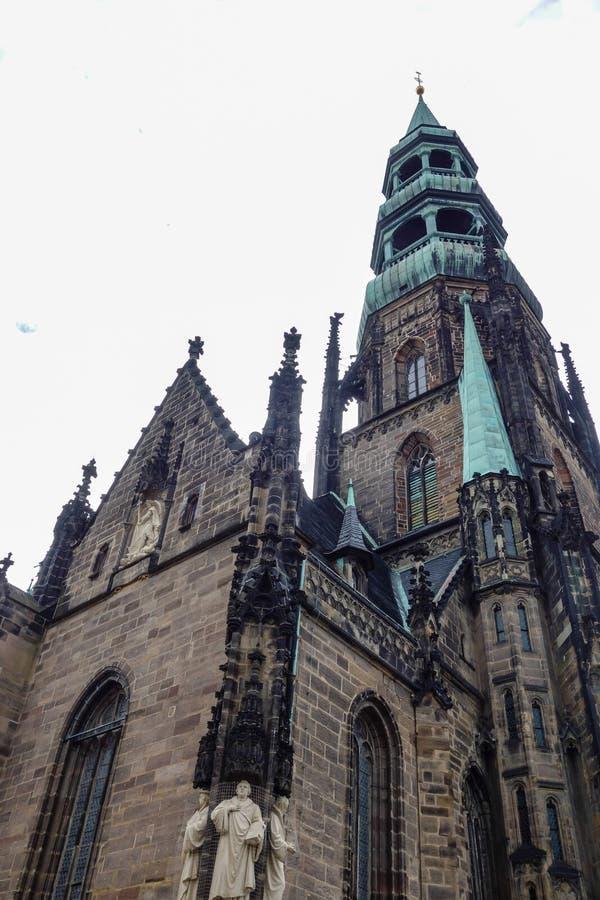 Katedral i Zwickau Saxony Tyskland arkivfoto