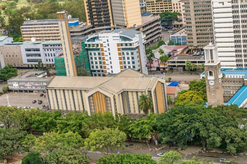 Katedralna bazylika Święta rodzina w Nairobia, Kenja zdjęcia royalty free
