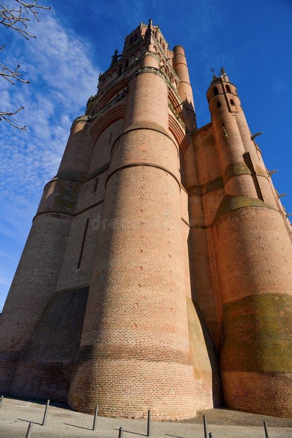 Katedralna bazylika święty Cecilia w Albi, Francja fotografia royalty free