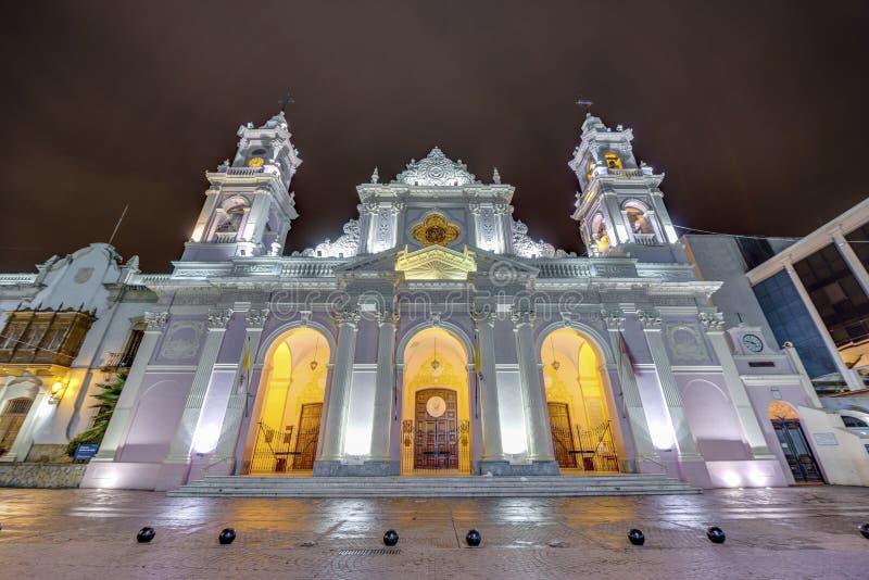 Katedralna bazylika w Salto, Argentyna obraz stock