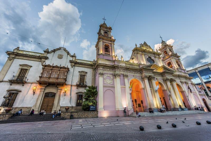 Katedralna bazylika w Salto, Argentyna zdjęcie royalty free