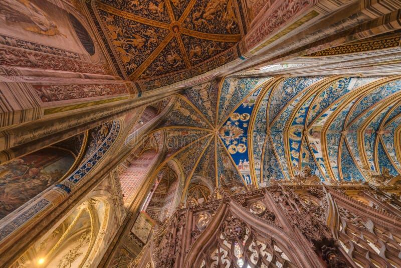 Katedralna bazylika ?wi?ty Cecilia w Albi, Francja zdjęcia royalty free