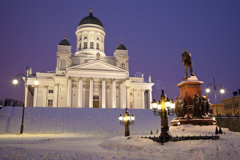 katedralna lutheran ranek zima zdjęcie stock