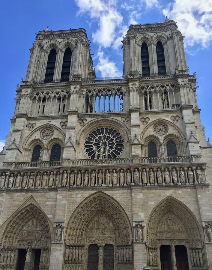 Katedralna notre paniusia Paryż, Francja zdjęcia stock