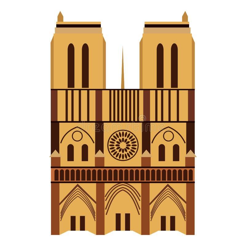 katedralna Paniusia De Notre Paris ilustracja wektor