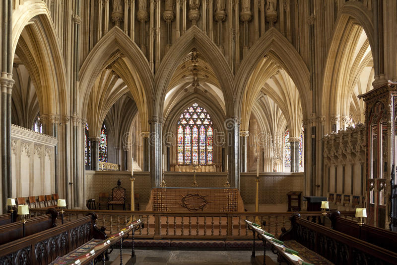 katedralne miasta England studnie fotografia stock