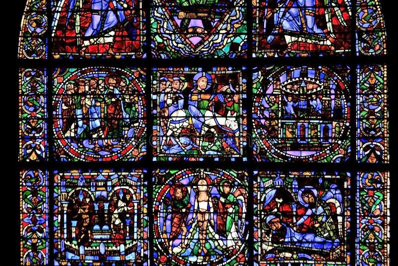 katedralnego Chartres szkła pobrudzony okno fotografia royalty free