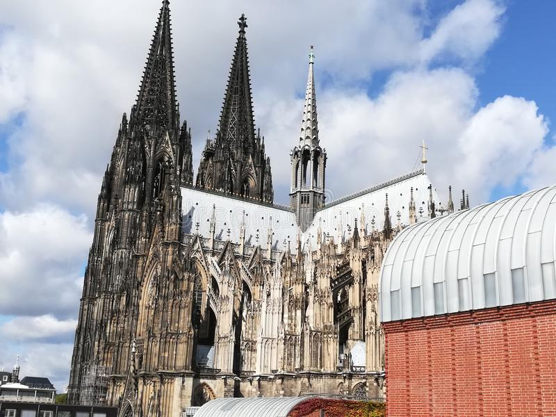 katedralnego cologne sławnego Germany dziedzictwa międzynarodowy punkt zwrotny miejsca unesco świat obraz stock