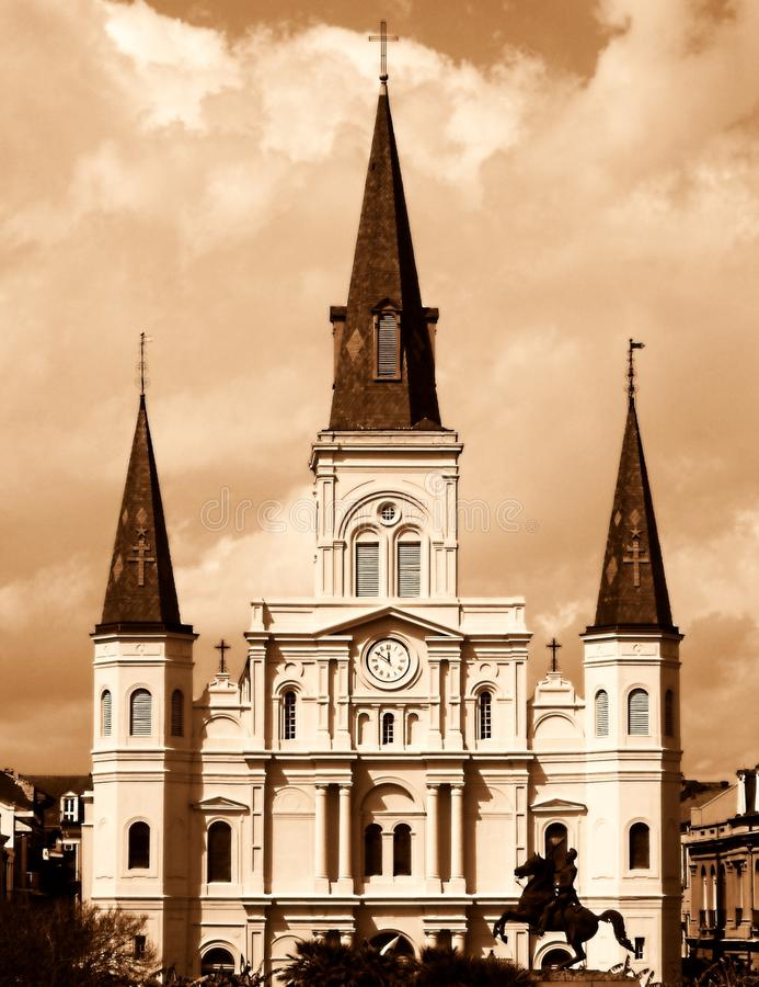 katedralnego ludwika nowy Orleans st zdjęcia royalty free