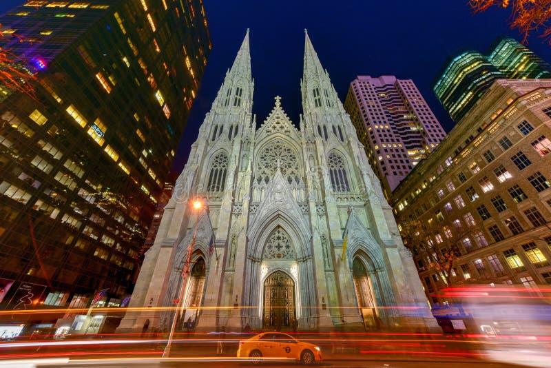 katedralnego Patrick miasta nowy York st fotografia royalty free