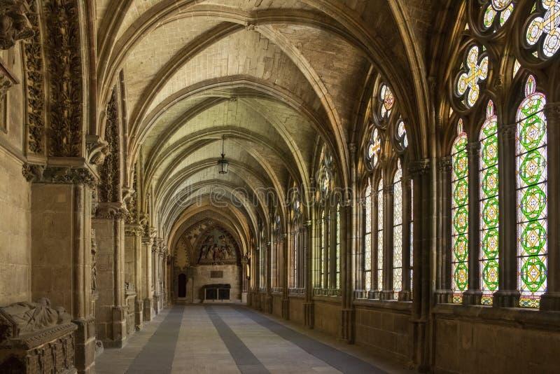 Katedralni Burgos Cloisters Hiszpania - Burgos - fotografia stock
